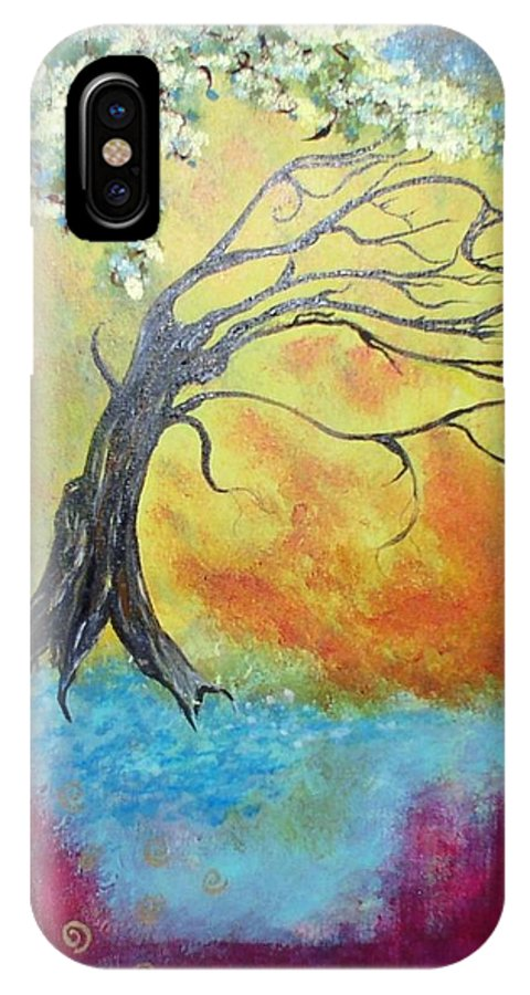 Tree IPhone X Case featuring the painting Life Renewing by Valerie Josi