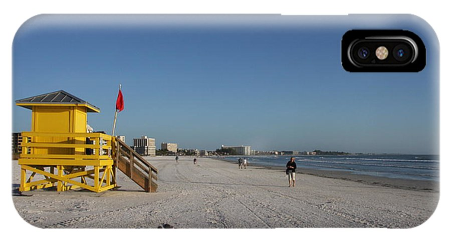 Lifegard IPhone X Case featuring the photograph Lifeguard On Siesta Key by Christiane Schulze Art And Photography
