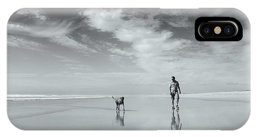 Penhors IPhone X Case featuring the photograph Life's A Beach by Karen Van Eyken