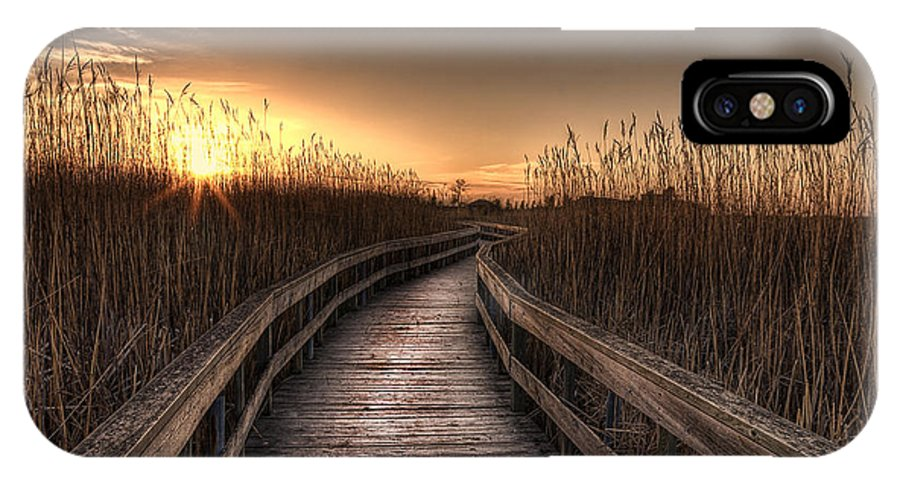 Landscape IPhone X Case featuring the photograph Light At The End Of The Road by Nebojsa Novakovic