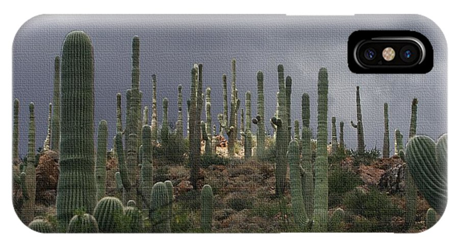 Light At The Top IPhone X Case featuring the photograph Light At The Top by Tom Janca