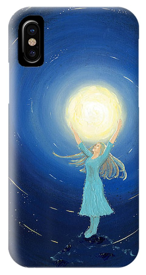 Inspirational IPhone X Case featuring the painting The Light Bearer by Elaine Allen