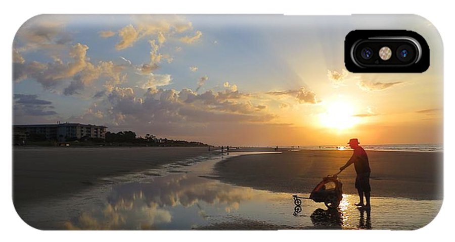 Landscape IPhone X Case featuring the photograph Light Dance by Todd Smith