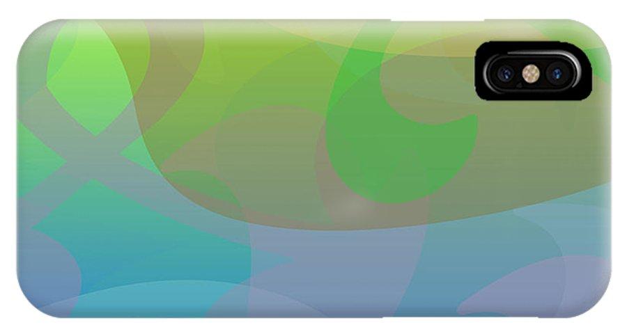 Fog IPhone X Case featuring the digital art Light Fog by Alisa Bogodarova