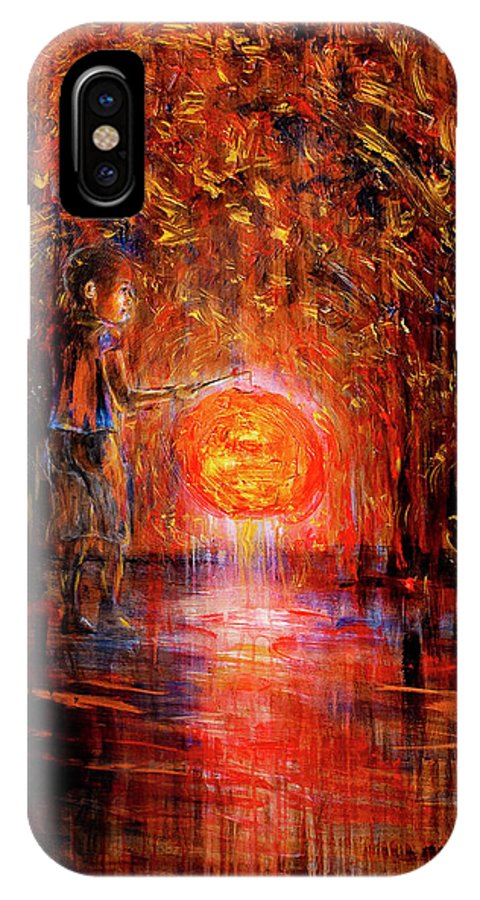 Lantern IPhone Case featuring the painting Light by Nik Helbig