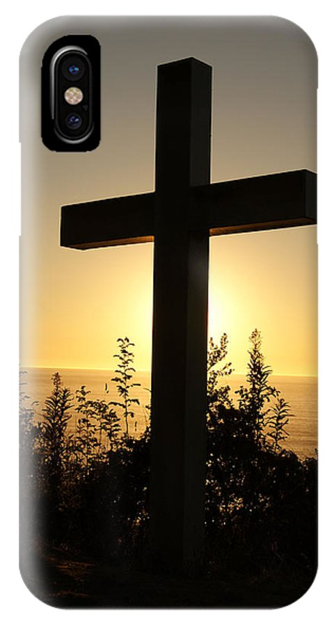 Cross IPhone X Case featuring the photograph Light Of The Cross by Brittany Elliott