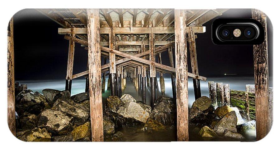 Pier IPhone X Case featuring the photograph Light Painted Pier by Joe Belanger