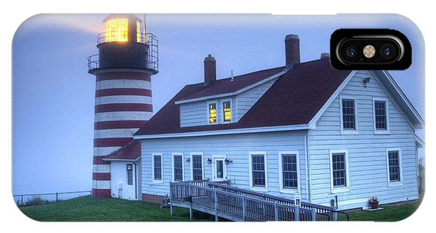 Lighthouse IPhone X Case featuring the photograph Lighthose by Denis Tangney Jr