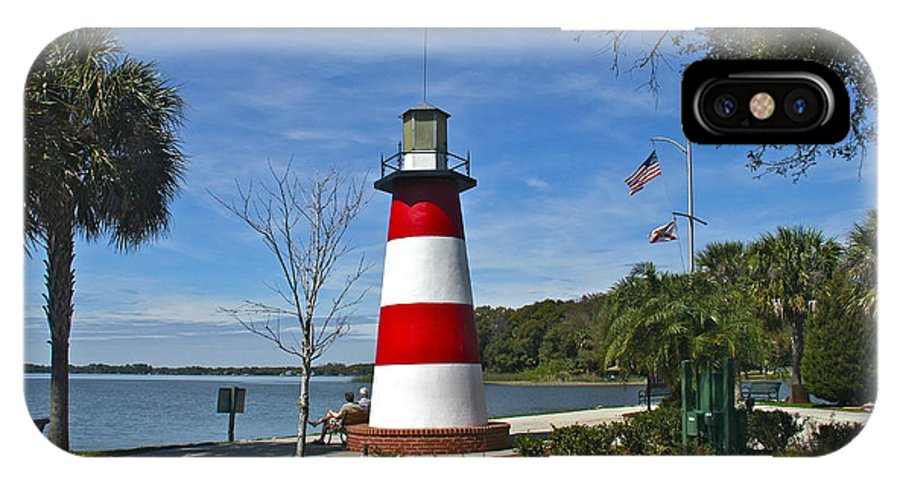 Lighthouse IPhone X Case featuring the photograph Lighthouse In Mount Dora by Denise Mazzocco