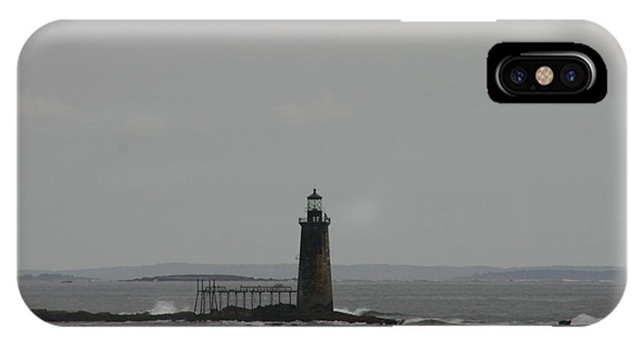 Lighthouse In The Distance IPhone X Case featuring the photograph Lighthouse In The Distance by Denyse Duhaime