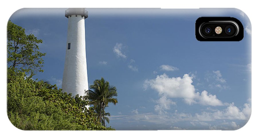 Lighthouse IPhone X Case featuring the photograph Lighthouse On A Sunny Day by Denise Thompson