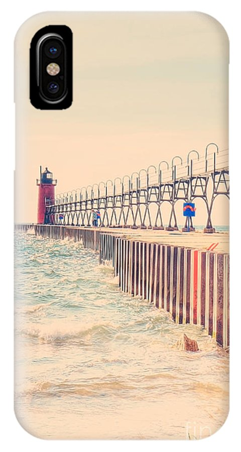 South Haven IPhone X Case featuring the photograph Lighthouse On Lake Michigan by Emily Kay