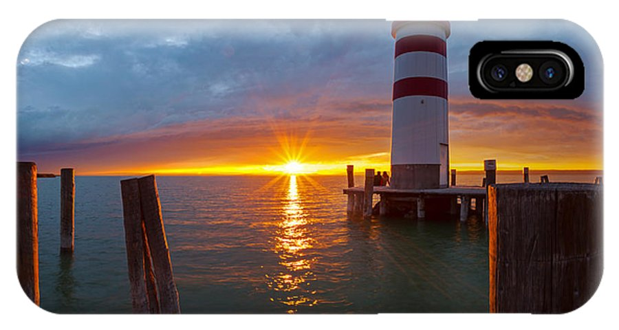 Lighthouse IPhone X Case featuring the photograph Lighthouse Romance by Silvio Schoisswohl