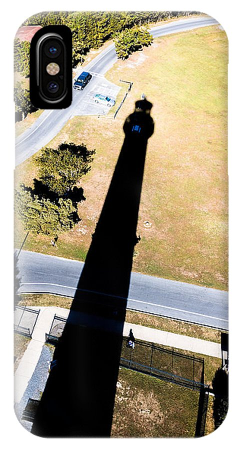 Grass IPhone X Case featuring the photograph Lighthouse Shadow by Gaurav Singh