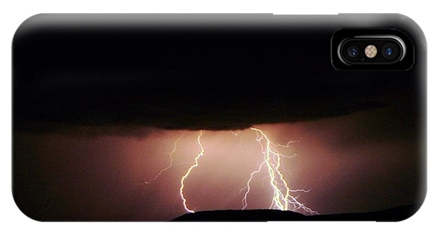 Lightning IPhone X Case featuring the photograph Lightning by Jeff Swan