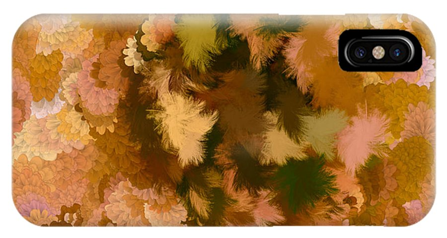 Flowers IPhone X Case featuring the digital art Lilac Of The Valley Brown Light Pink by Holley Jacobs
