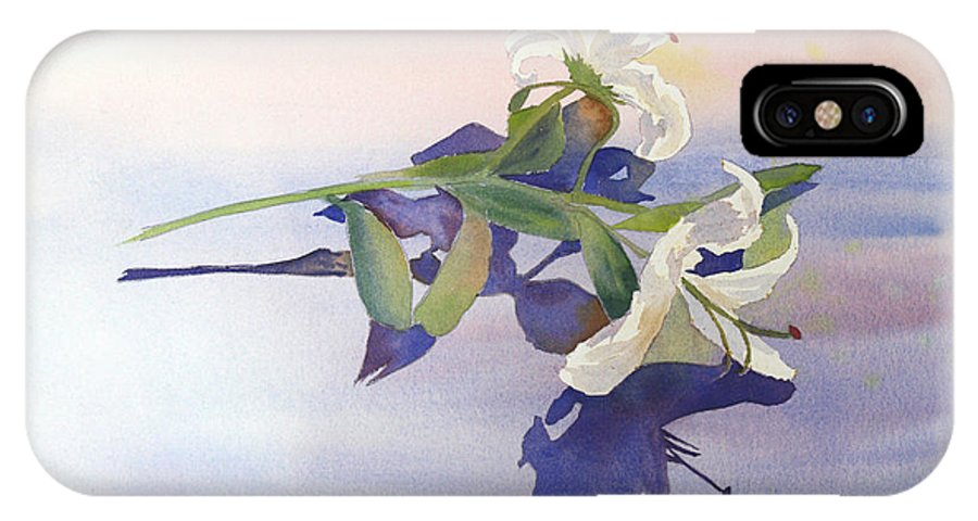 Lily IPhone X Case featuring the painting Lilies At Rest by Patricia Novack