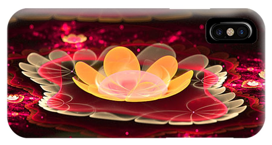 Flora IPhone X Case featuring the digital art Lilies On Lava Bed by Ester Rogers