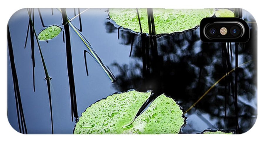Background IPhone X Case featuring the photograph Lilly Pad Pond by Tim Hester