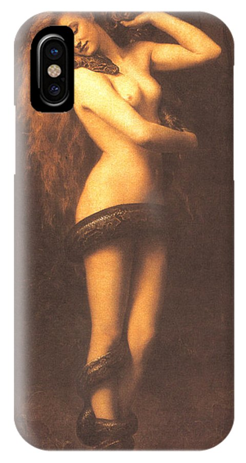 John Collier IPhone X Case featuring the digital art Lilth by John Collier