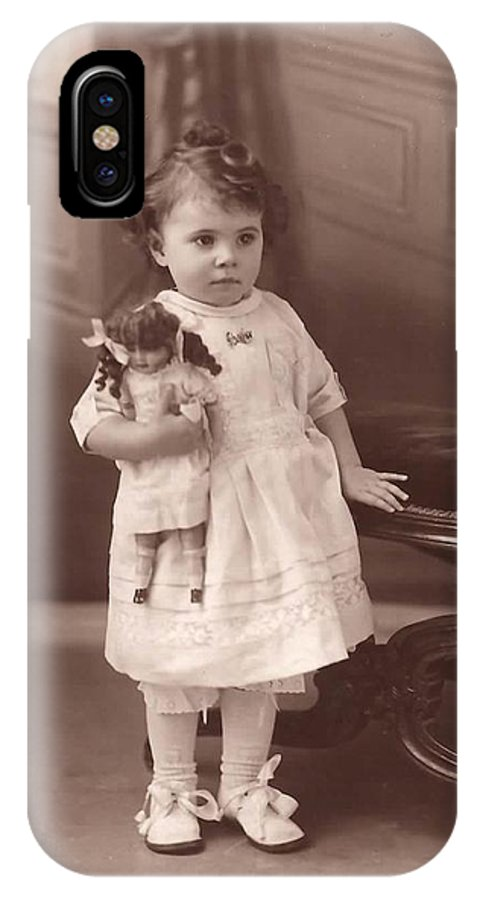 Old Photograph IPhone X Case featuring the photograph Lily 1919 by Diane Carlson