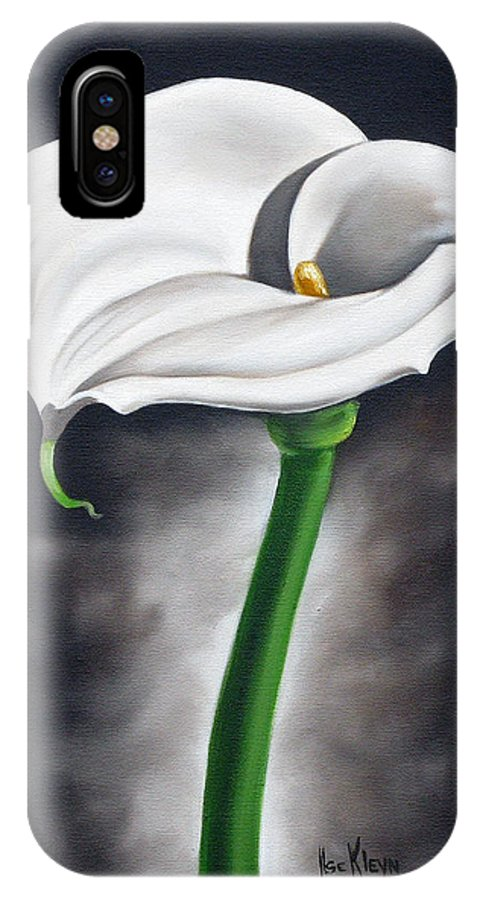 Flower IPhone X Case featuring the painting Lily 2 by Ilse Kleyn