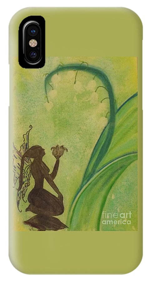 Fairy IPhone X / XS Case featuring the pastel Lily Fairy by Tammi Wetak