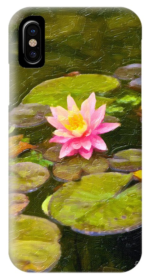 British Columbia IPhone X Case featuring the digital art Lily In Pond by Ty Korte