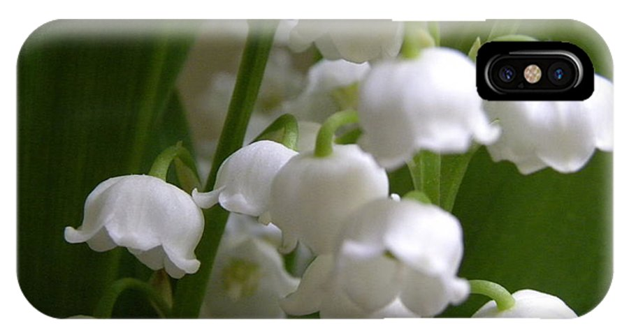 Lily Of The Valley IPhone X Case featuring the photograph Lily Of The Valley 3 by Laura Yamada