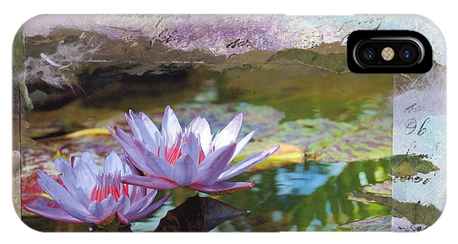 Lily IPhone X Case featuring the painting Lily Pad Sisters by Tamyra Crossley