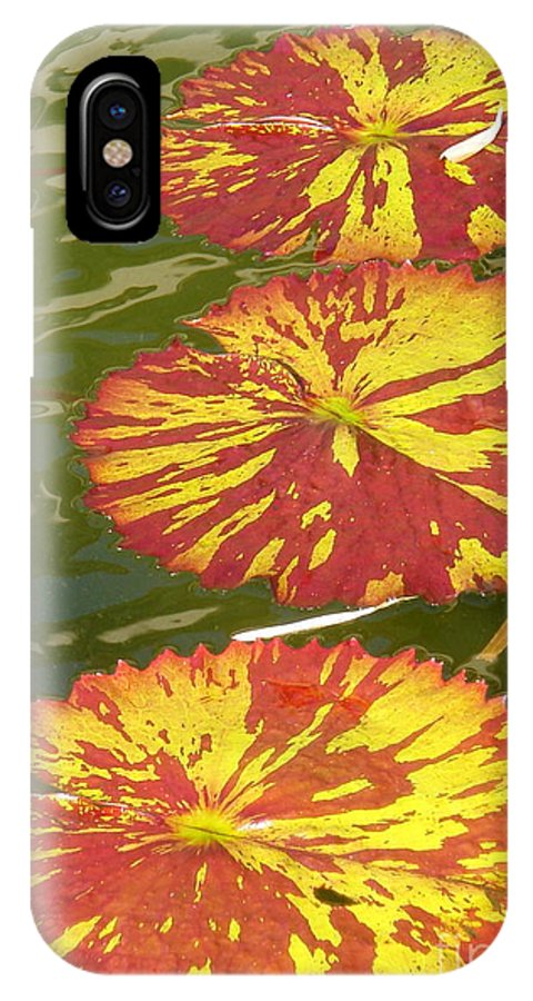 Lilypads IPhone X / XS Case featuring the photograph Lilypads by Christie Greiner-shelton