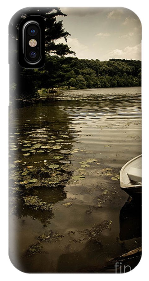 Allegheny County IPhone X Case featuring the photograph Lilypads In The Lake by Amy Cicconi