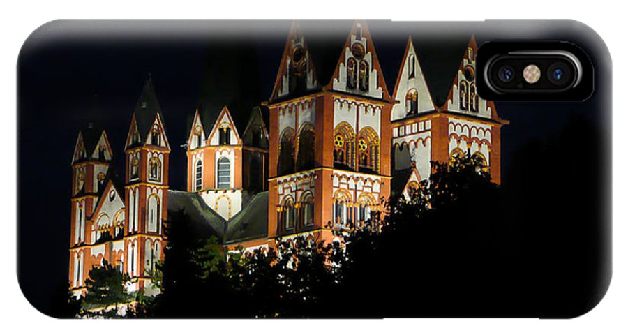 Limburg IPhone X Case featuring the photograph Limburg Cathedral At Night by Jenny Setchell