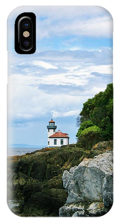 Lighthouse IPhone X Case featuring the photograph Lime Kiln Point Lighthouse by Karen Jones