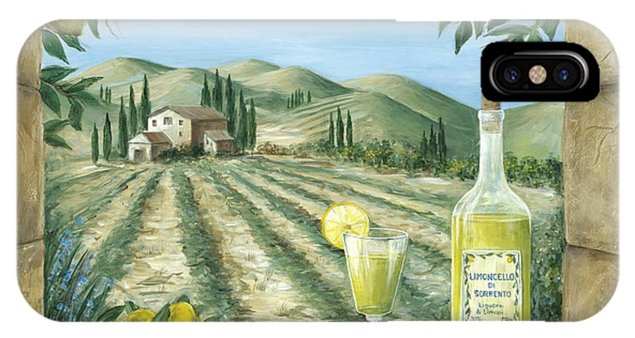 Tuscany IPhone X Case featuring the painting Limoncello by Marilyn Dunlap