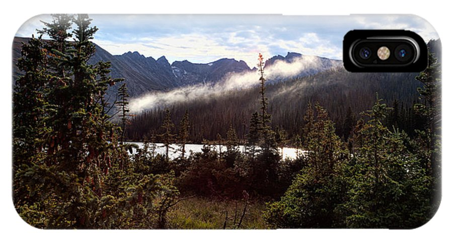 Long Lake Print IPhone X Case featuring the photograph Lingering Mist by Jim Garrison