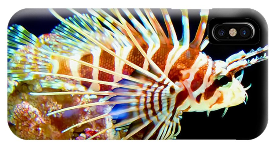 Lionfish IPhone X Case featuring the photograph Lionfish 1 by Dawn Eshelman