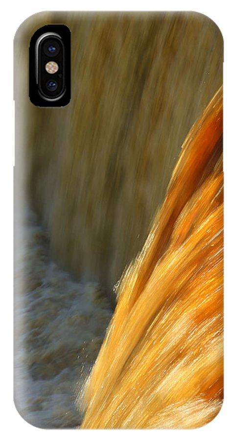 Liquid Amber IPhone X Case featuring the photograph Liquid Amber by Rachel Cohen