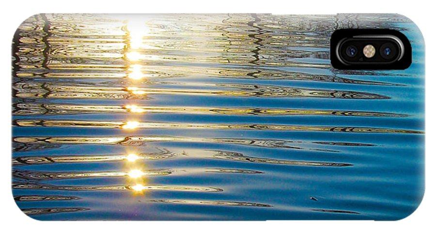 Landscape Photographs IPhone X Case featuring the photograph Liquid Gold by Chris Daniels