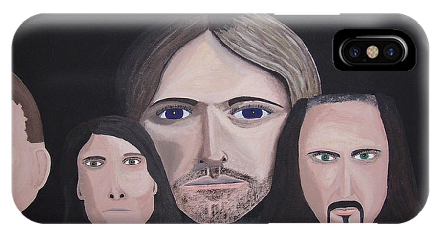 Original IPhone X Case featuring the painting Lithium by Dean Stephens