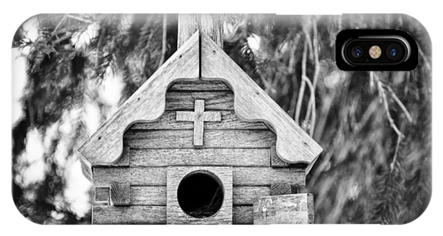 Animal IPhone X Case featuring the photograph Little Birdie Church by Christi Kraft