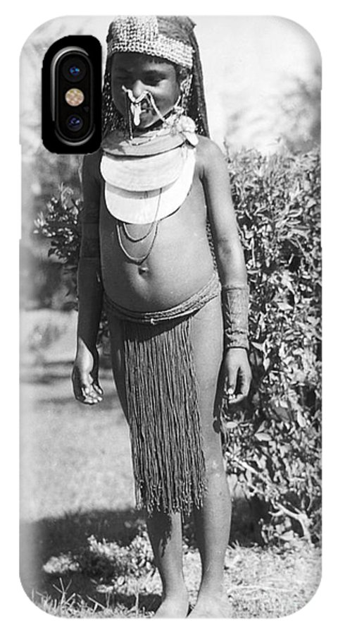 Primitive IPhone X / XS Case featuring the photograph Little Chimbu Girl Papua New Guinea by Peter Skinner The Ian Skinner Collection
