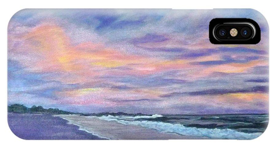 Little Gasparilla Island IPhone X Case featuring the painting Little Gasparilla Island Sunset by Nancy Nuce