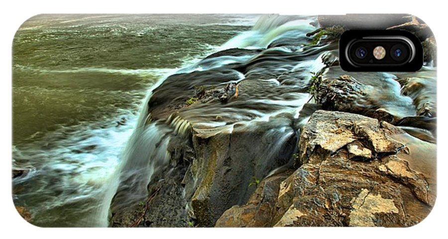 West Virginia Waterfalls IPhone X Case featuring the photograph Little Niagara by Adam Jewell