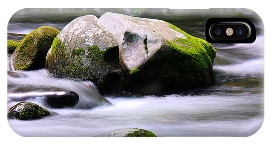 Waterfalls IPhone X / XS Case featuring the photograph Little Piegon River Gatlinburg Tennessee by Jerome Lynch