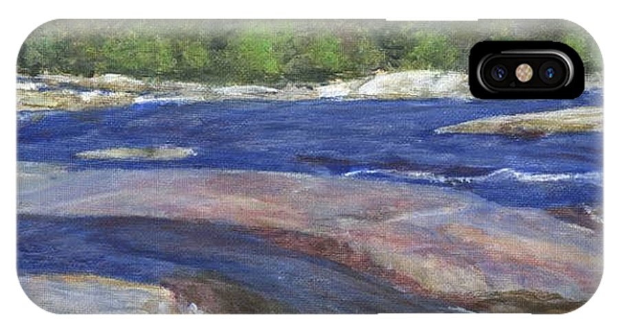 Moose River IPhone X Case featuring the painting Little Rapids by Sheila Mashaw