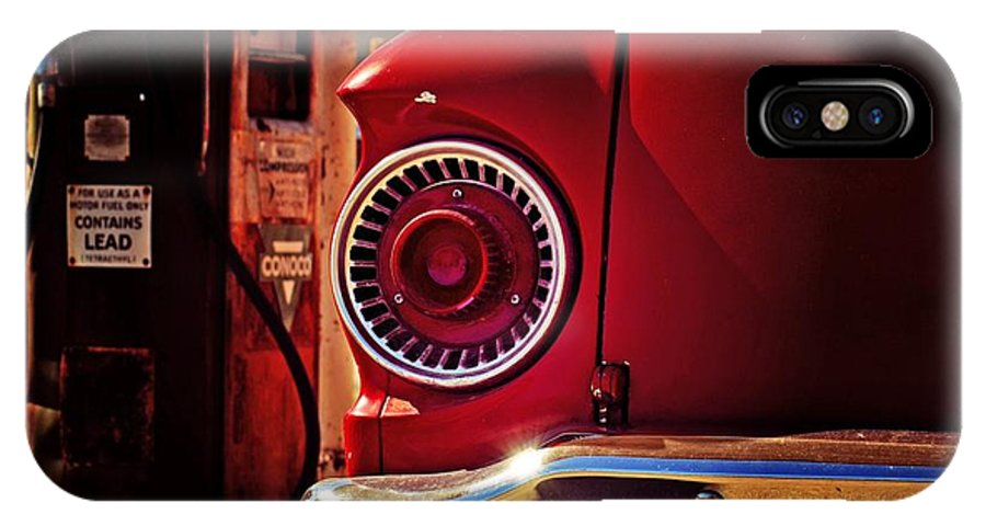 Conocophillips IPhone X Case featuring the photograph Little Red by Willetta Crowe