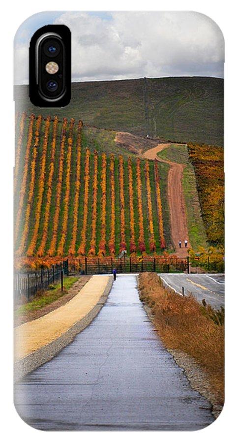 Vineyards IPhone X Case featuring the photograph Livermore Vineyard 2 by Karen W Meyer