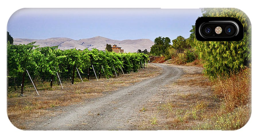 Vineyard IPhone X Case featuring the photograph Livermore Vineyard 3 by Karen W Meyer