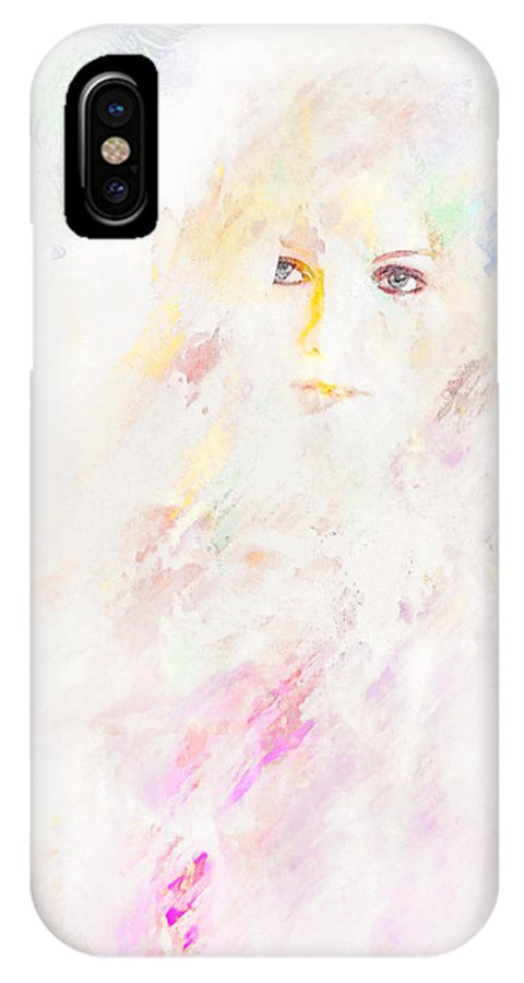 Portrait IPhone X Case featuring the digital art Livingston by Galen Valle